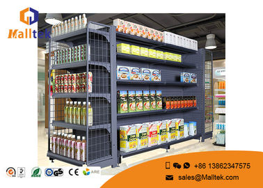 China Retail Store Supermarket Gondola Shelving Double Sided  Metal Pegboard supplier