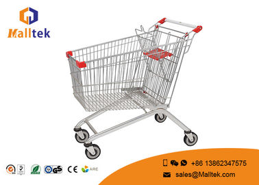 China Retail Grocery Store Commercial Shopping Trolley European Style Foldable Trolley Cart supplier