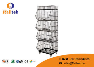 China Multilayer Stackable Wire Baskets Unique Stackable Wire Storage Bins supplier