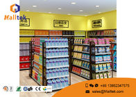 China Cold - Rolled Steel Supermarket Gondola Shelving Easy Assemble Light Duty Type company