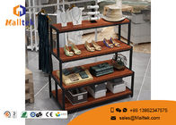 China Furniture Steel Wood Display Rack Custom Modern For Retail Store Shoe Display company
