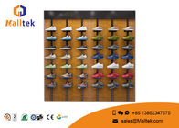 Durable Shoe Store Using Steel And Wooden Display Rack With Multiple Sizes