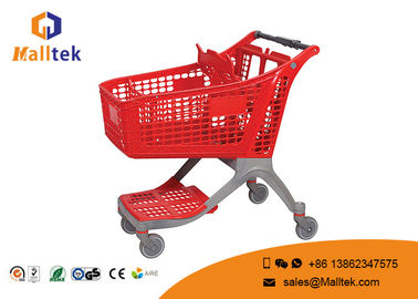 Pure Plastic Supermarket Shopping Trolley Convenient Loading Capacity 80-160kg