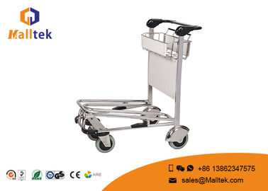 China Lightweight Airport Luggage Trolley Foldable Travel Passenger Airport Push Cart factory