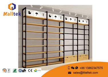 Cosmetic Boutique Wooden Display Shelves Wood Store Fixtures Flooring Stand