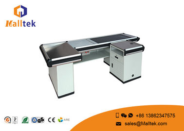 China Aluminum Alloy Grocery Store Checkout Counter Flexible With Conveyor Belt distributor