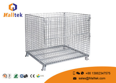Heavy Duty Wire Mesh Storage Cages Customized Galvanized Saving Space