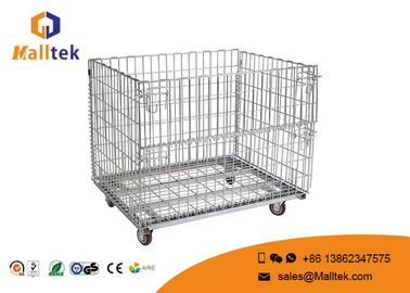 Heat Resistant Wire Mesh Storage Cages Wire Mesh Security Cage With Wheels