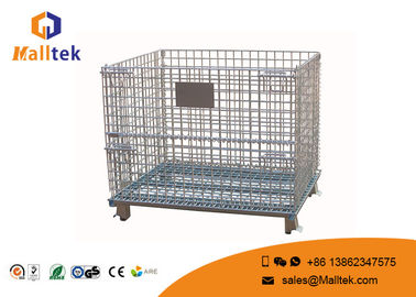 Foldable Wire Mesh Pallet Stillages Convenient For Warehouse Storage