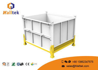 Transportation Stackable Metal Pallets Steel Pallet Bins Optional Color