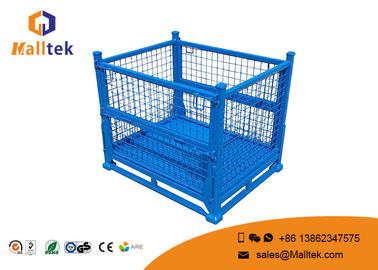 Industrial Stackable Pallet Cages Foldable Steel Save Warehouse Space