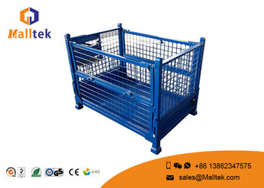 Galvanized Metal Stackable Pallet Cages Durable Rigid Wire Mesh Box Pallet