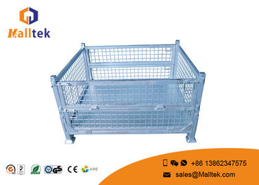 Molded Rolling Stackable Pallet Containers Lockable Stainless Steel Material