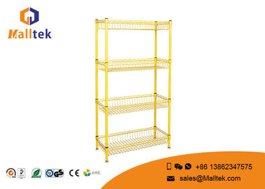 China Multi - Function Wire Rack Shelving Stainless Steel Wire Shelves High Loading Capacity factory