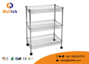 China Chrome Plated Customized Wire Rack Shelving For Industrial Warehouse Storage factory