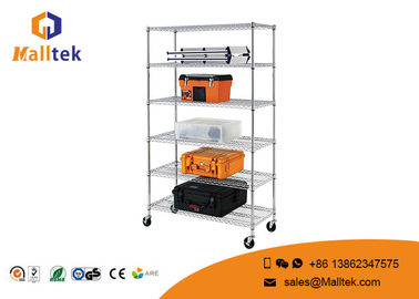 China Kitchen Wire Rack Shelving 4 Layers Black Powder Coated Chrome Wire Shelving distributor