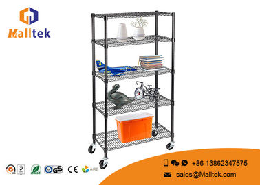 China Movable Adjustable Wire Storage Shelve Powder Coating 6 Tier Heavy Duty distributor