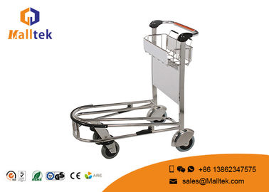 China 4 Wheels Durable Airport Luggage Trolley PVC Handle Material Stainless Steel distributor