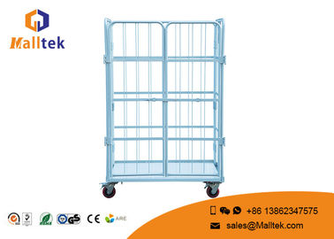Roll Container Large Supermarket Trolley , Durable Warehouse Storage Trolley