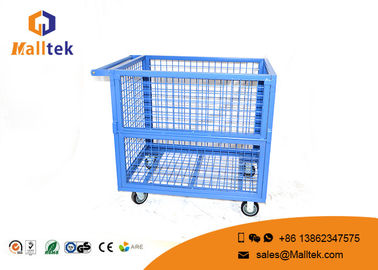 Heavy Duty Storage Supermarket Roll Cages Galvanized Wire Mesh Steel Metal