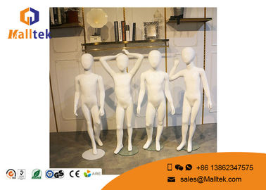 FRP Fiberglass Mannequins , Full Body Gloss White Color Child Mannequin