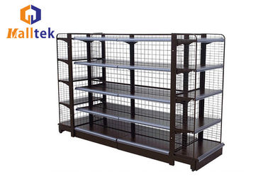 China Multi Functional Supermarket Gondola Shelving Food Display With Accessories factory