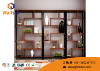 Industrial Wooden Retail Display Shelves Wood Frame Modern Design For Book Display