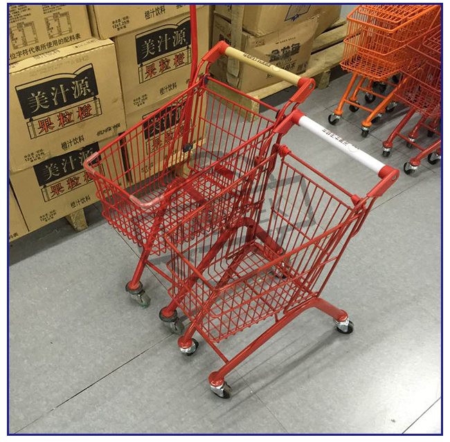 New Style Plastic Supermarket Shopping Trolley Kids Ride With Toy