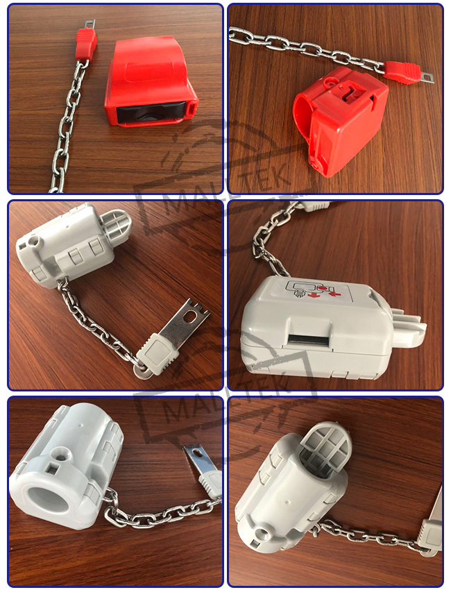 Widely Used Supermarket Shopping Trolley Cart Series Safety Coin Lock System
